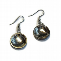 handmade sterling silver dome earrings