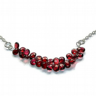 briolette garnet necklace