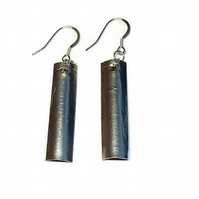 pewter handmade dangle earrings