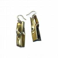 handmade fold formed pewter earrings
