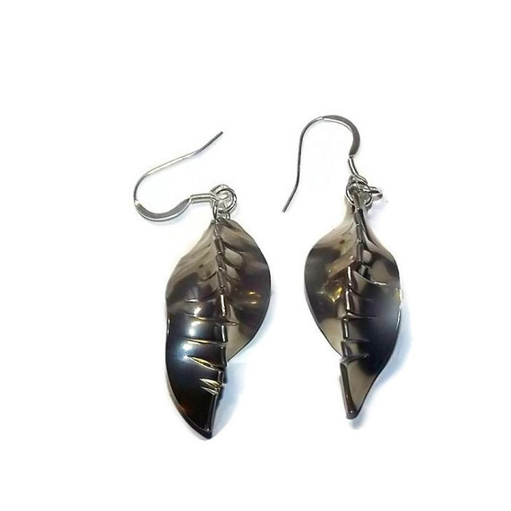 handmade pewter pod earrings