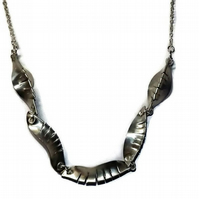 handmade pewter pod necklace