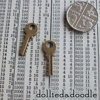 10 bronze coloured key (yale) charms