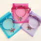 Butterfly charm friendship bracelets for party bag favours - pack of ten