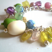 Spring Has Sprung: Glass Beaded Charm Bracelet
