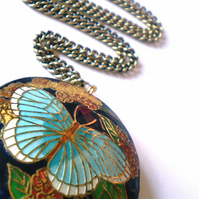 Beautiful Butterfly Cloisonne Pendant