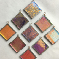 Dichroic Glass Hanging Decorations