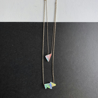 Double Layered Spectrum Necklace