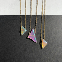Single Spectrum Necklace on Brass Chain