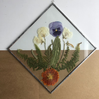Large Tropical Pressed Flower Frame