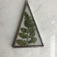 Pressed Fern Triangle Decoration