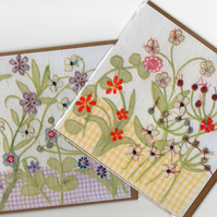 Flower Garden cards x 2 with free postage