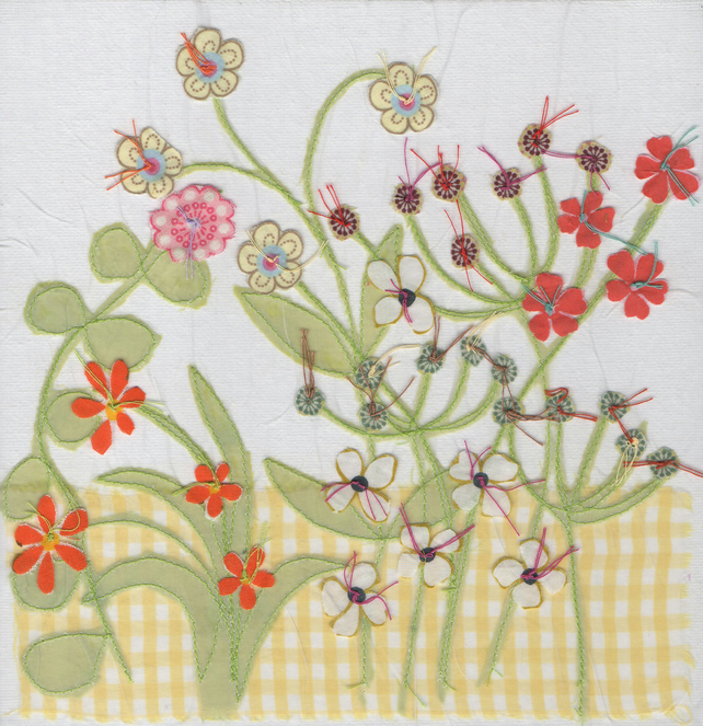 Easter, springtime Flower Garden card