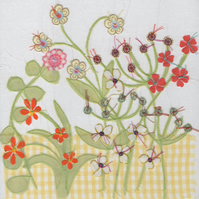 Yellow Flower Garden card