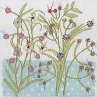 Any occasion blank Flower Garden card - free postage