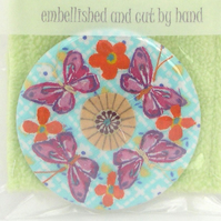 SALE  Flowers and Butterflies mirror