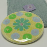 SALE -  Flowers pocket mirror