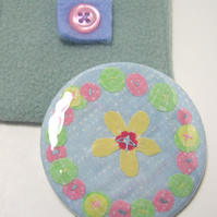 SALE -  Spring garland pocket travel  mirror