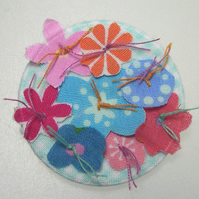 Flowers pin-brooch