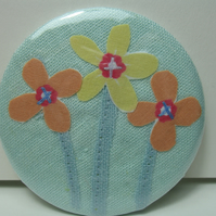 SALE - Flower Trio pocket mirror