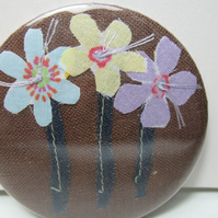 SALE Chocolate Flower Trio pocket mirror