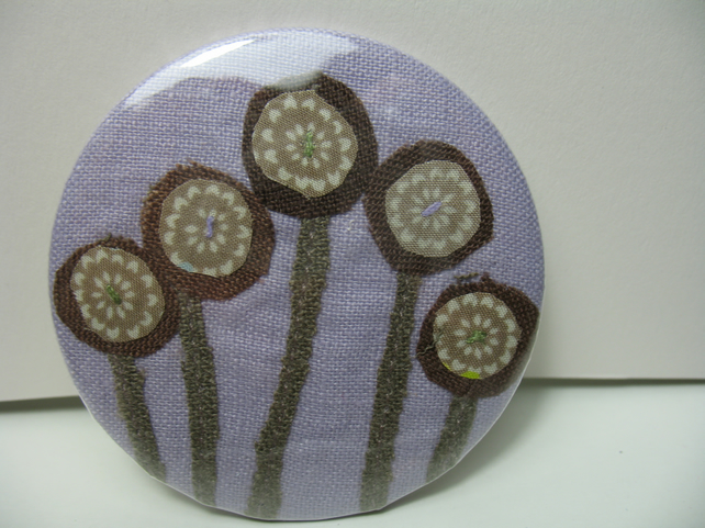 Seed Heads pocket mirror