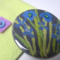 Linen flowers Pocket Mirror