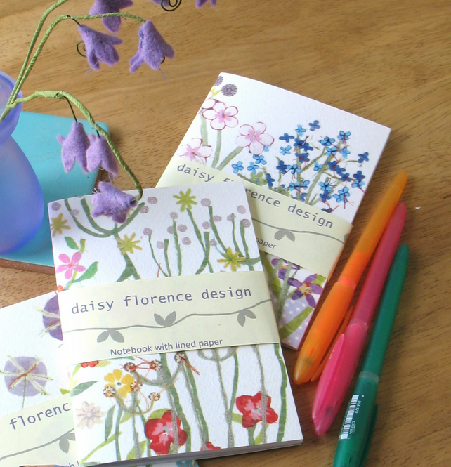 Floral botanical 3x notebook set