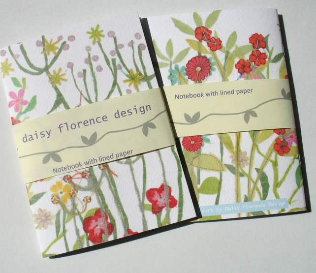Floral notebook - plain paper