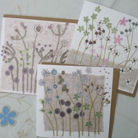 Set of 3  Hedgerow cards