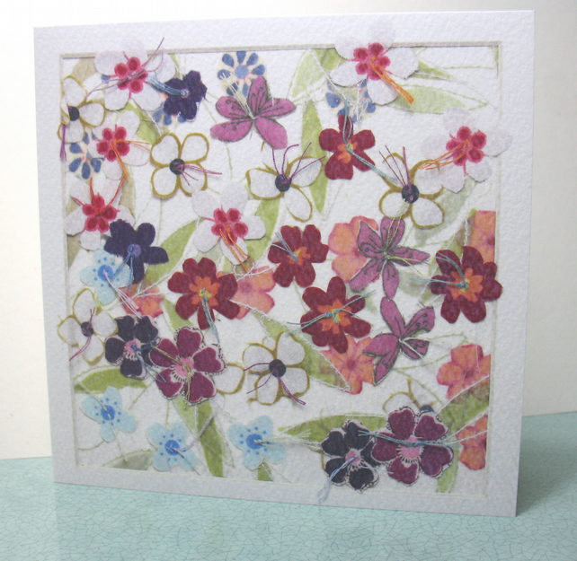 Flower Blossom retirement card
