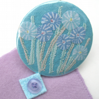 'Meadow Blue' compact mirror