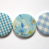 Stocking filler blue pocket mirror trio