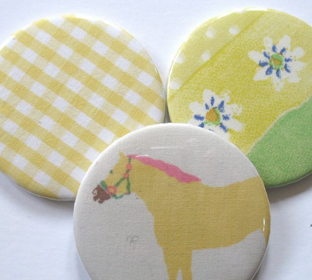 Mirrors - Stocking filler yellow pocket mirror trio