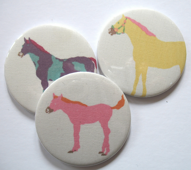 Mirrors - Horse pony  pocket mirror trio