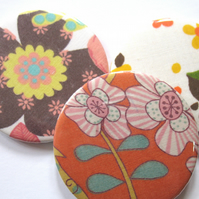 Stocking filler Flower pocket mirror trio