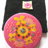 Flower mirror and pouch