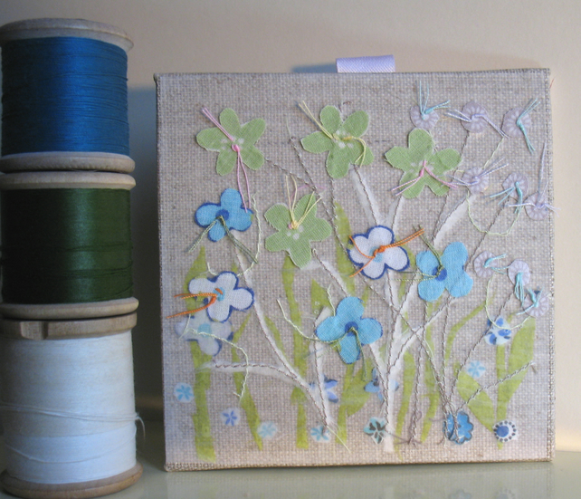 Meadow blue canvas