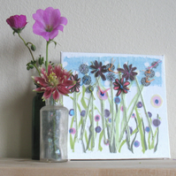 Wild flower meadow canvas