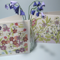 Pair of Flower Garden cards