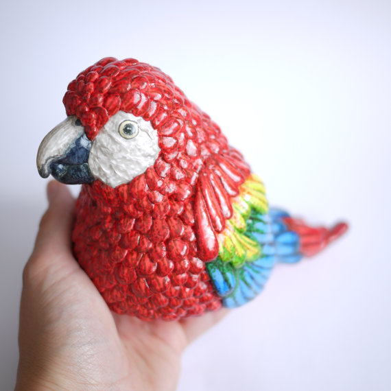 Large Scarlet Macaw Ornament
