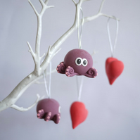 Octopus and Heart Valentine's Day Decorations