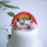 Gay Elephant Wedding Cake Topper