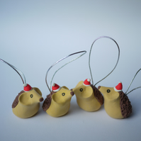 Hedgehog Christmas Tree Decorations