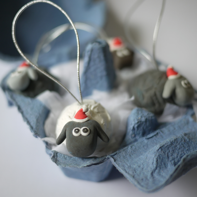 Sheep Christmas Tree Decorations