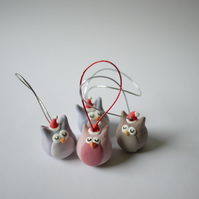 Owl Christmas Tree Decorations