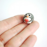 Tiny Penguin in Love Ornament