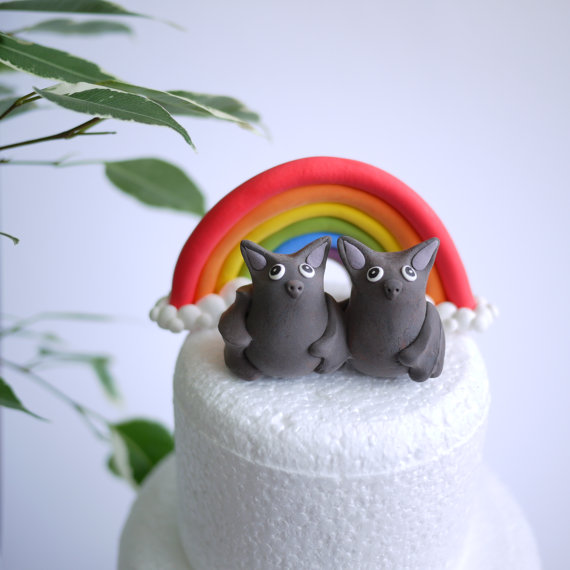 Bat Wedding Cake Topper