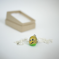 Green Budgie Necklace