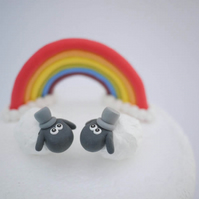 Gay Sheep Wedding Cake Topper